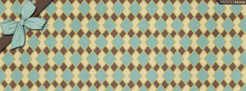 Brown & Blue Diamond Pattern Facebook Cover