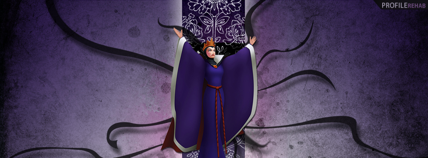 Evil Queen from Snow White Facebook Cover