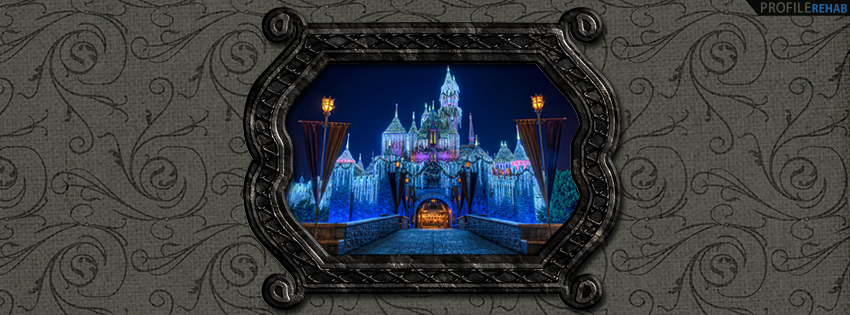 Sleeping Beauty Castle at Christmas Facebook Cover