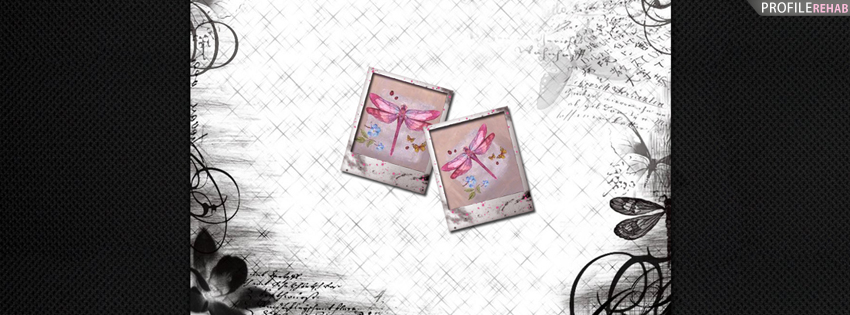 Pink Dragonflies Facebook Cover for Timeline