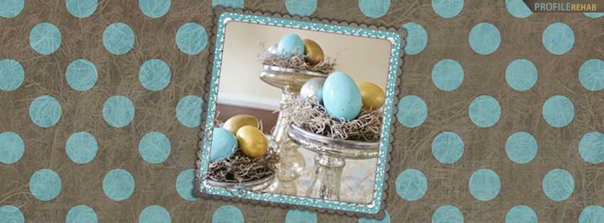 Blue and Brown Easter Facebook Cover Photos