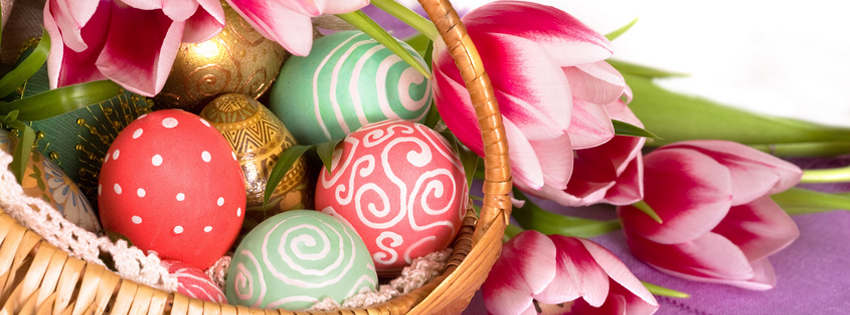 Pretty Easter Basket FB Cover Pictures - Cute Pics of Easter
