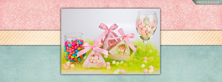 Pink and Blue Easter Candy FB Cover Pictures