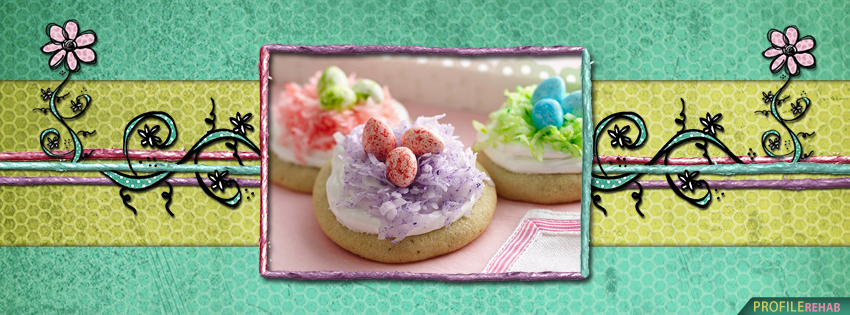 Cute Easter Egg Cookies Facebook Cover Photos