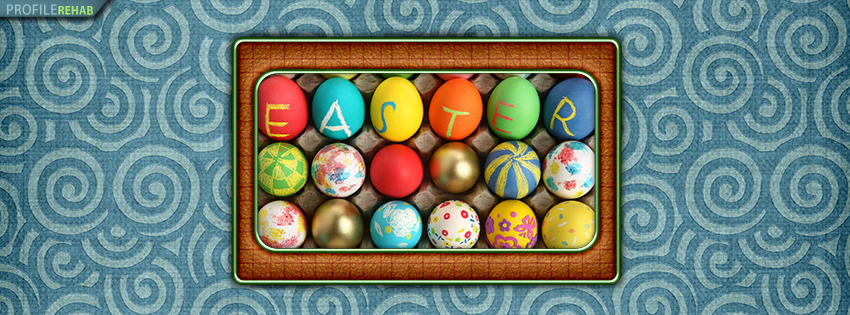 Colorful Easter Eggs Facebook Timeline Cover