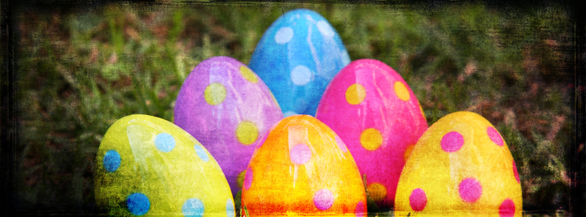 Grunge Easter Eggs Facebook Cover - Easter Egg Images