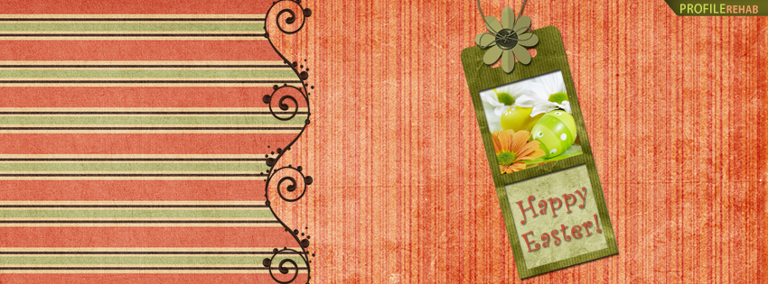 Orange and Green Happy Easter Facebook Cover Photos
