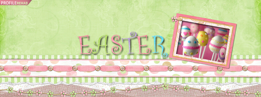 Green and Pink Easter Facebook Cover Photos Preview