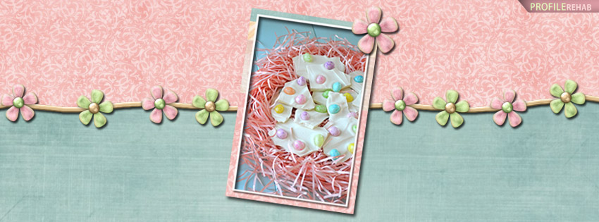 Pastel Easter Egg Facebook Cover Photos
