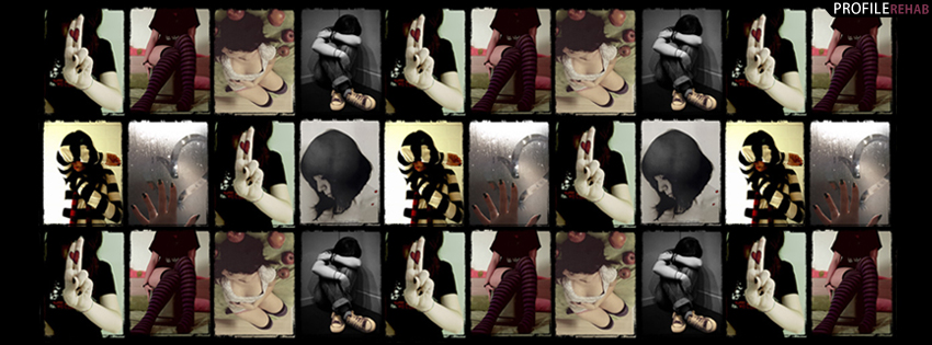 Emo Collage Facebook Cover for Timeline
