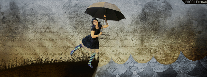 Emo Girl Facebook Cover for Timeline