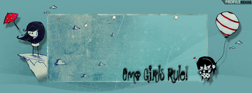 Emo Girls Rule Facebook Cover for Timeline