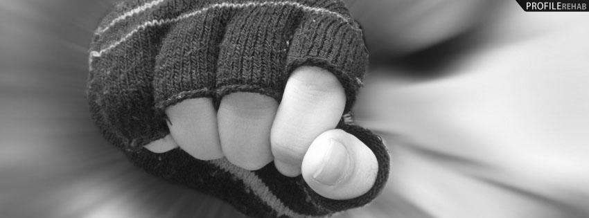 Black Emo Glove Facebook Cover