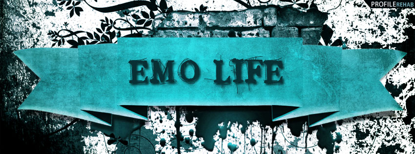 Emo Life Quote Facebook Cover