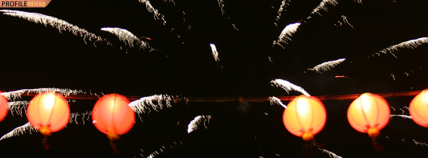 Cool Fireworks Facebook Cover