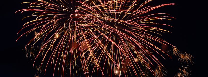 Fireworks in Sky Facebook Cover