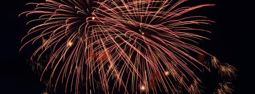 Fireworks in Sky Facebook Cover