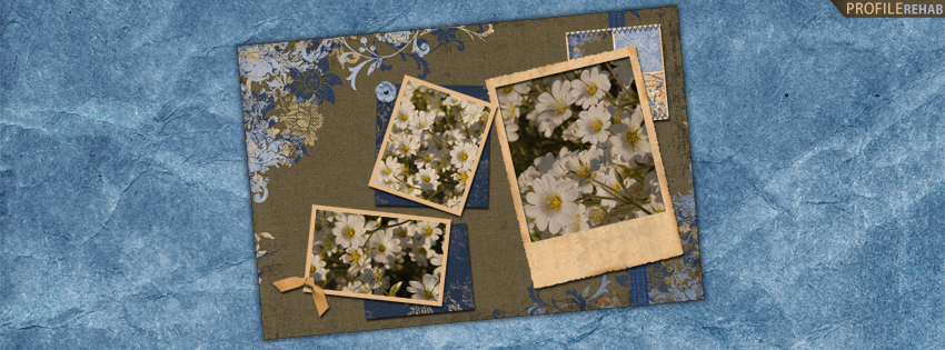 Blue & Brown Flower Facebook Cover for Timeline