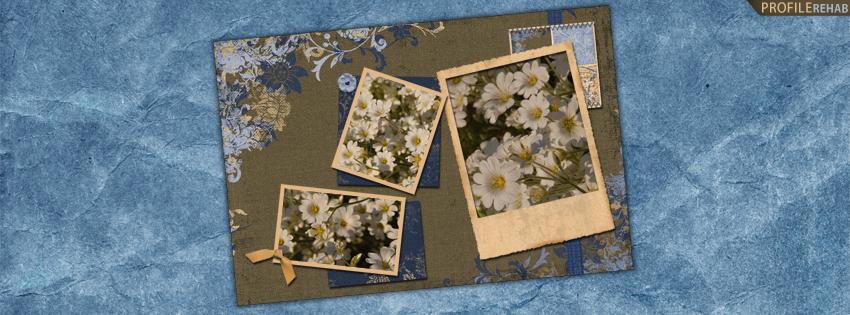 Blue & Brown Flower Facebook Cover for Timeline