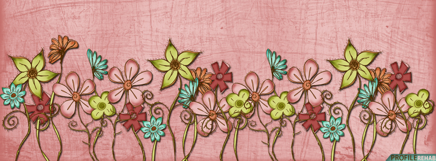 Colorful Flowers Facebook Cover Preview