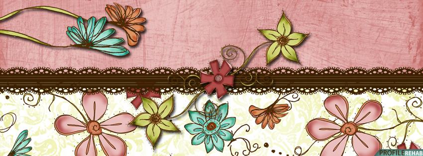 Pink & Brown Flower Facebook Cover