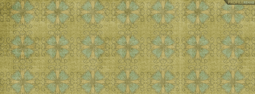 Green & Blue Flower Pattern Timeline Cover Preview