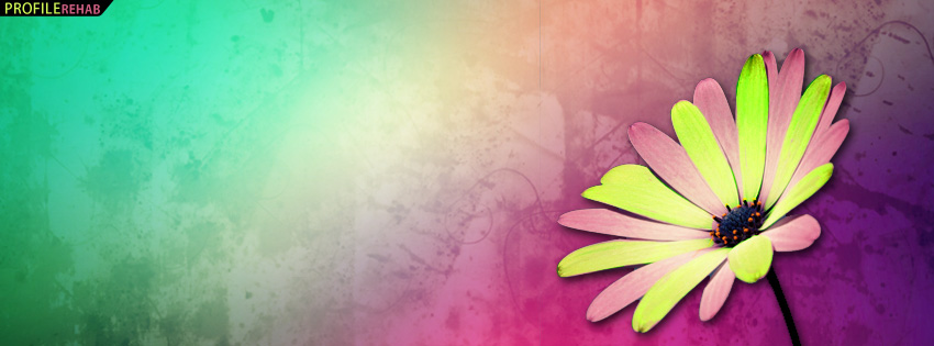 Neon Flower Facebook Cover