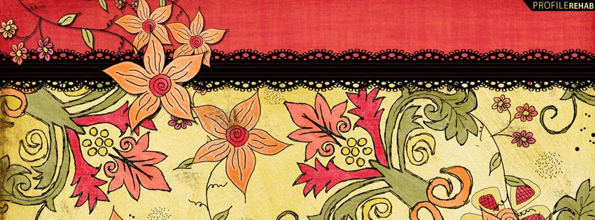 Red & Orange Flower Cover for Facebook Timeline