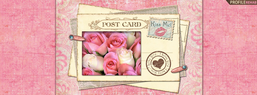 Pretty Pink Roses Cover for Timeline - Pictures of Valentines Day