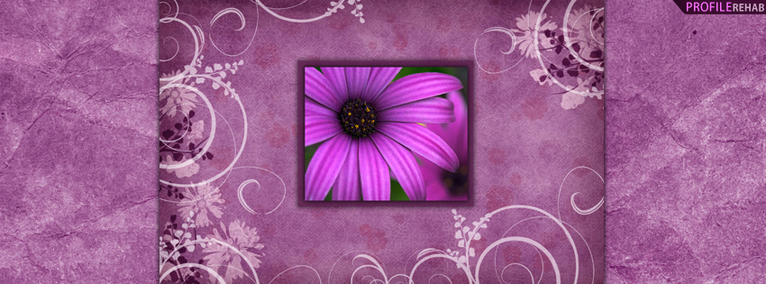 Purple Flower Facebook Cover for Timeline