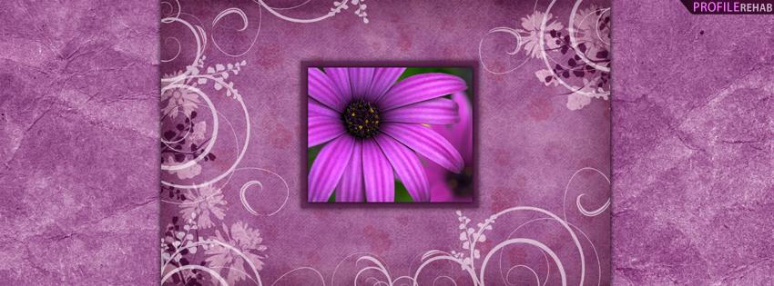Purple Flower Facebook Cover for Timeline