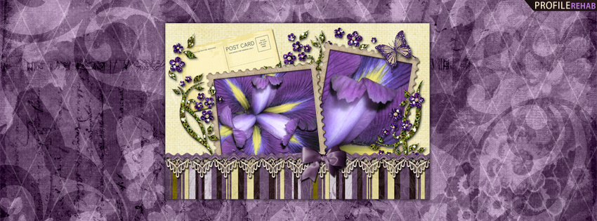 Purple Iris Facebook Cover for Timeline