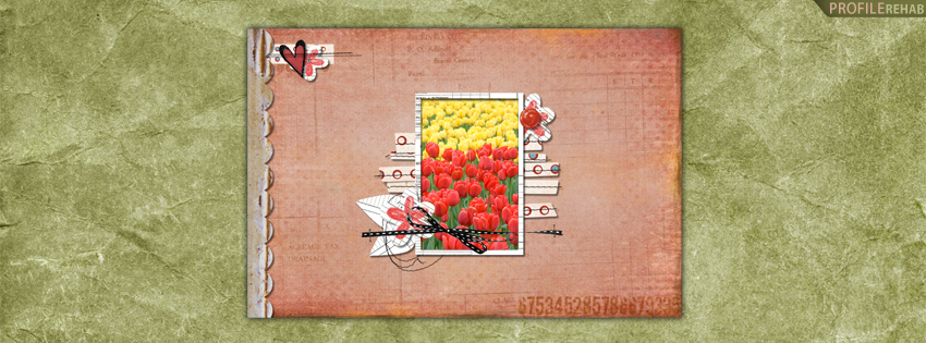 Yellow & Red Tulips Facebook Cover for Timeline