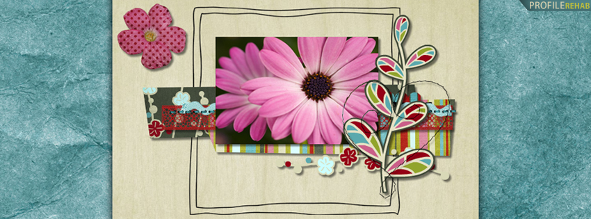 Scrapbook Flower Facebook Cover for Timeline
