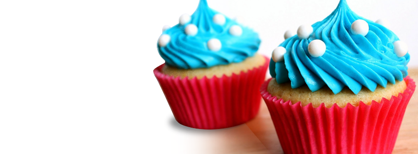 Blue Cupcake Timeline Cover