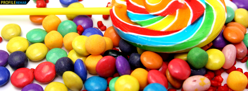 Lollipop and Candy Facebook Cover