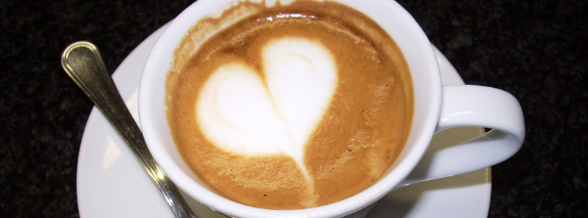 Heart Cappuccino Facebook Cover - Heart Coffee Images