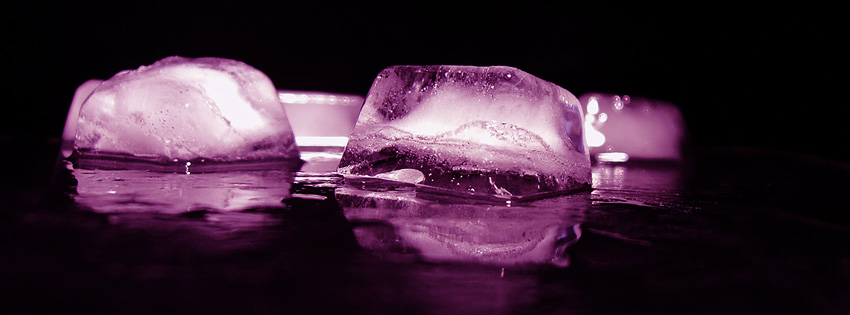 Purple Ice Facebook Cover