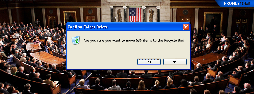 Funny Political Recycle Congress Cover