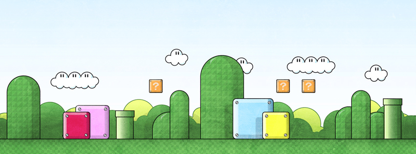 Mario Game Background Facebook Cover Preview