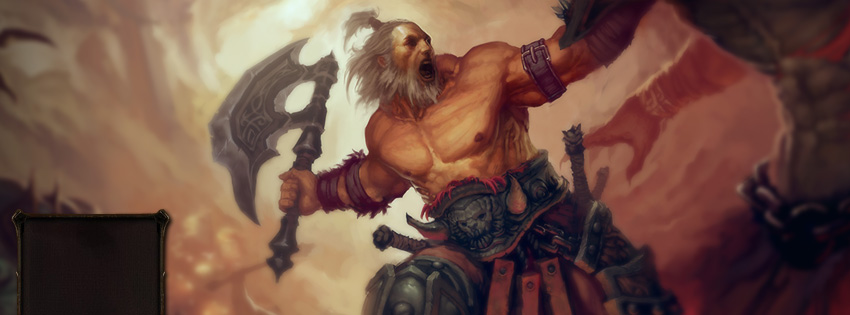 Diablo 3 Barbarian Facebook Cover