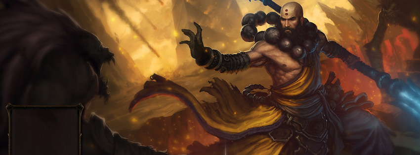 Diablo 3 Monk Facebook Cover