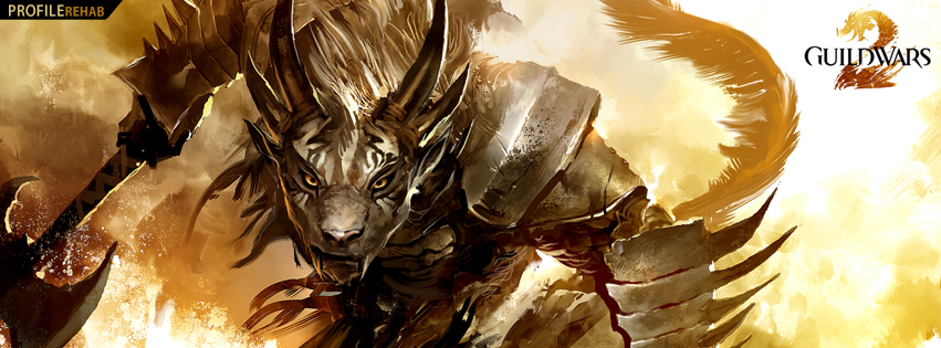 Guild Wars Grawl Warrior Facebook Cover