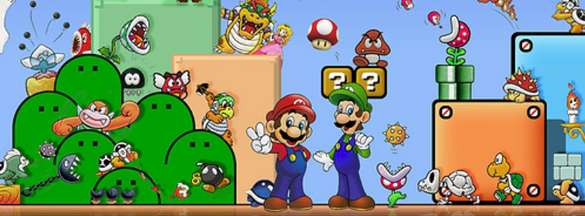 Mario and Luigi Facebook Cover
