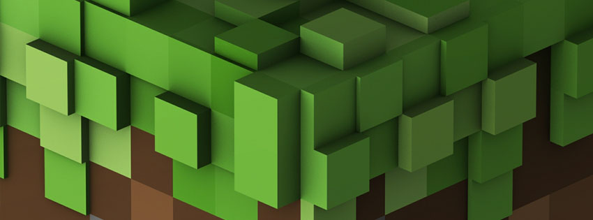 Minecraft Grass Facebook Cover