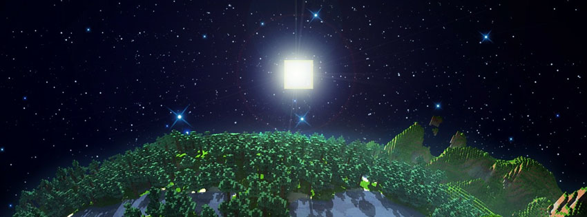 Minecraft Night Facebook Cover