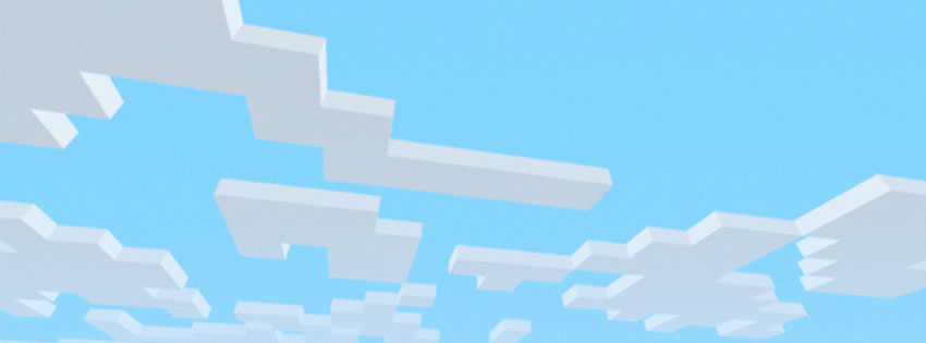 Minecraft Clouds Facebook Cover