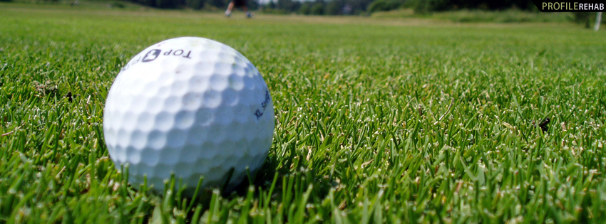 Golf Ball on Golf Course Timeline Cover
