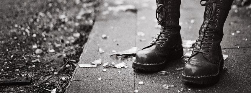 Black Boots Cover for Facebook Timeline