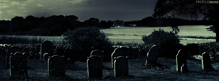 Dark Cemetery Facebook Cover - Spooky Halloween Images - Spooky Halloween Pictures